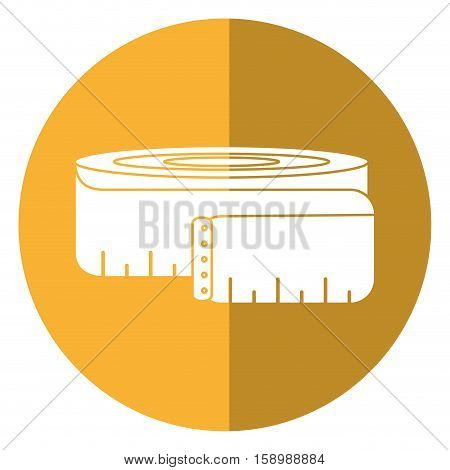 measuring tape lose weight fitness gym shadow vector illustration eps 10