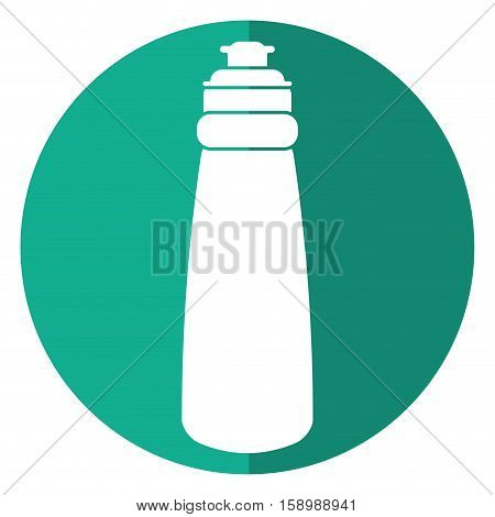 bottle water hydration fitness gym shadow vector illustration eps 10