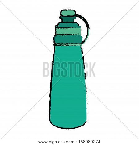 drawing green bottle water hydration fitness gym vector illustration eps 10