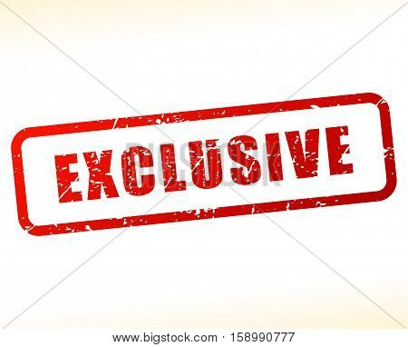 Illustration of exclusive stamp on white background