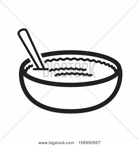 Cuisine, rice, pudding icon vector image. Can also be used for european cuisine. Suitable for mobile apps, web apps and print media.