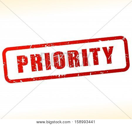 Illustration of priority stamp on white background