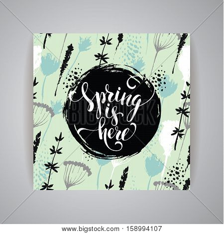 Artistic creative Hand Drawn spring Design for poster, card, invitation, placard, brochure, flyer Vector