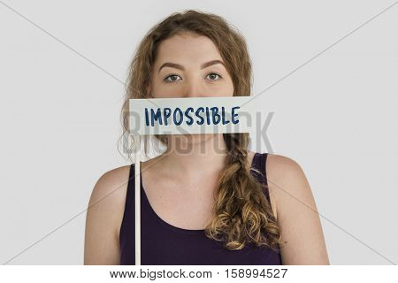 Impossible Unbelieved Pessimism Word Concept