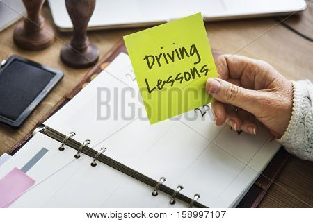 Driving Lessons Driver's License Transportation Concept