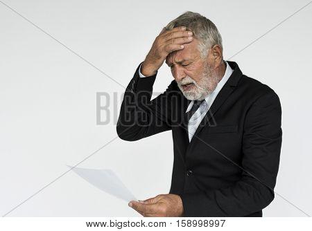 Businessman Surprise Stun Shock Portrait Concept