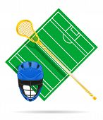 lacrosse field vector illustration isolated on white background poster