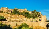Museum of Santa Cruz, Convento de La Concepcion and Alcantara Bridge in Toledo - Spain poster