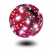 Shiny disco Ball isolated over solid background poster