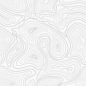 Topographic contour lines vector map seamless pattern. Map of terrain geographic, illustration of topography linear map area poster