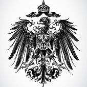Vector Crown and Eagle Ornament poster