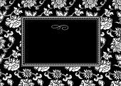 Vector asian themed frame. Easy to scale and edit. Pattern is included as seamless swatch poster