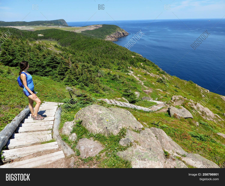 Beautiful Views Hiking The East Coast Trail Off The Coast Of Newfoundland  And Labrador, Canada