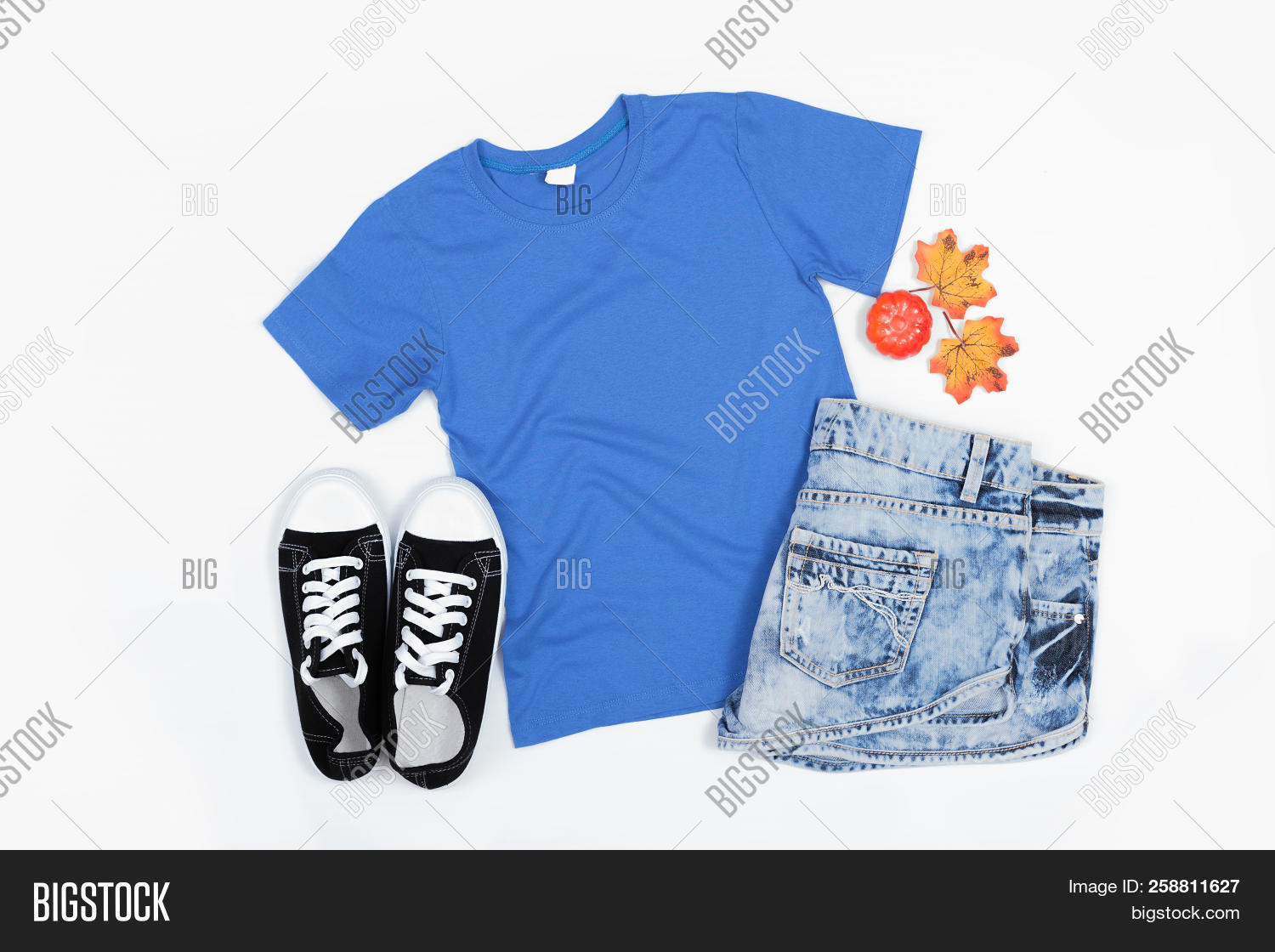 Blue Short Sleeve T Image Photo Free Trial Bigstock