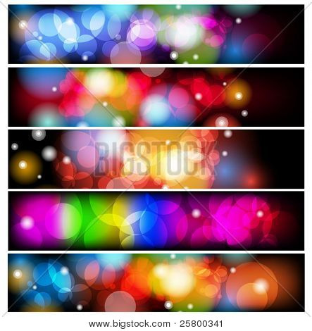 Set of abstract colorful backgrounds.