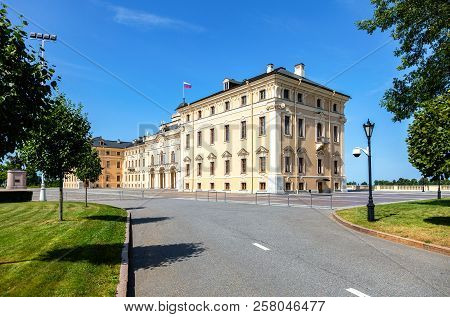 Saint Petersburg, Russia - August 9, 2017: Konstantinovsky Palace In Strelna. The State Complex The