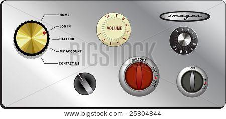 vintage knobs website buttons set 1