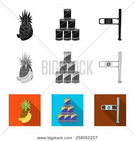 Isolated Object Of Food And Drink Icon. Set Of Food And Store Stock Vector Illustration.