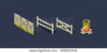 Wooden Fence, Village Vector & Photo (Free Trial) | Bigstock