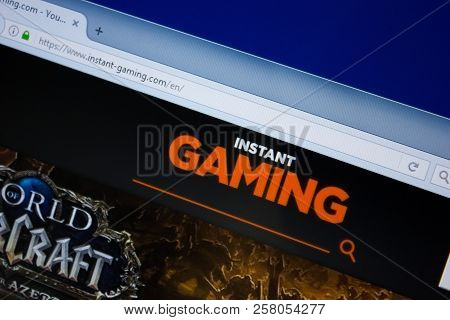 Ryazan, Russia - September 09, 2018: Homepage Of Instant-gaming Website On The Display Of Pc, Url -