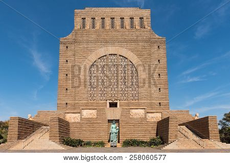Pretoria, South Africa, July 31, 2018: The Voortrekker Monument, On Monument Hill In Pretoria. It Wa