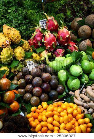 Tropical fruits in market - Barcelona