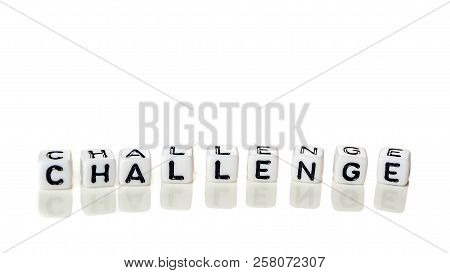 White Cubes With Word Challenge On White Background