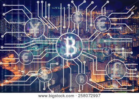 The Financial Technology Or Fintech Over The Innovation Technology Virtual Screen Background With Ae