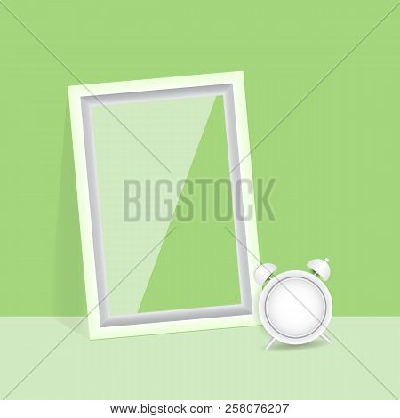 Blank Photo Frame Quality Poster, Stock Vector