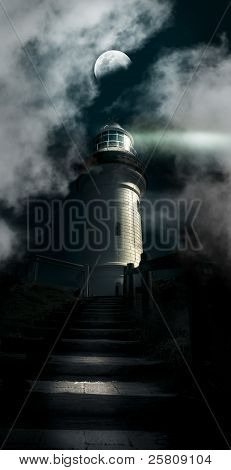 The Dark Atmospheric Lighthouse