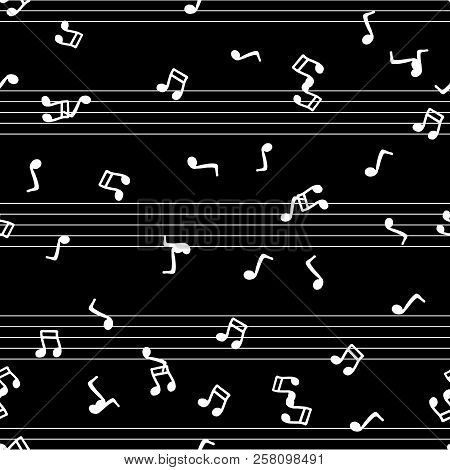 Musical Notes Seamless Pattern. Vector Illustration Of Musical Notes Seamless Pattern. Hand Drawn Do
