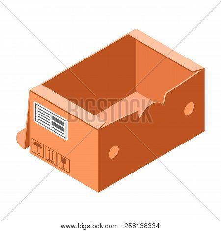 Handly Carton Box Icon. Isometric Of Handly Carton Box Vector Icon For Web Design Isolated On White