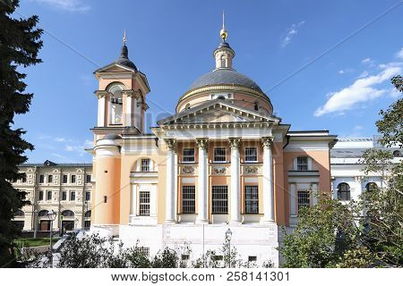 Church Of The Great Martyr Varvara On Varvarka Street In Moscow. Russia