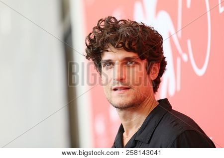 Louis Garrel attends 'One Nation One King (Un Peuple Et Son Roi)' photocall during the 75th Venice Film Festival at Sala Casino on September 7, 2018 in Venice, Italy.