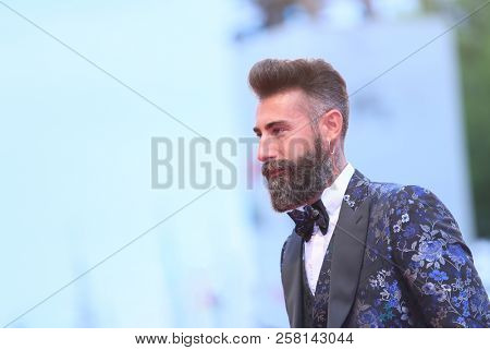 Italo Petrelli walks the red carpet ahead of the 'One Nation One King (Un Peuple Et Son Roi)' screening during the 75th Venice Film Festival at Sala Grande on September 7, 2018 in Venice, Italy.