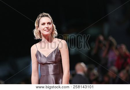 Elena Radonicich walks the red carpet ahead of the 'Una Storia Senza Nome' screening during the 75th Venice Film Festival at Sala Grande on September 7, 2018 in Venice, Italy.