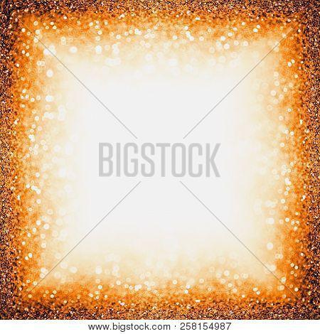 Abstract Dark Orange Black Glitter Sparkle Confetti Background For Happy Birthday Invite, Autumn Fal
