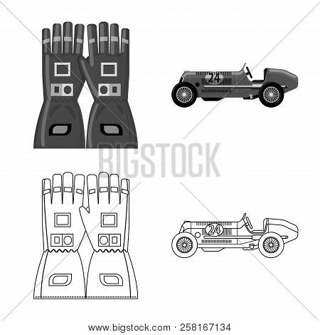 Vector Design Of Car And Rally Logo. Collection Of Car And Race Stock Vector Illustration.