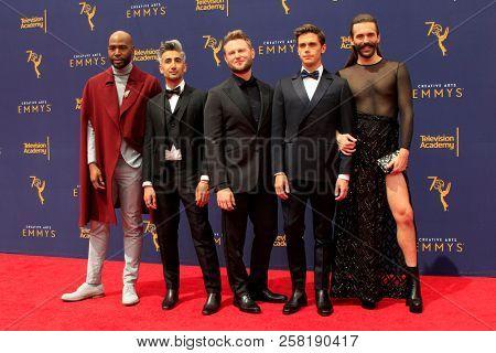LOS ANGELES - SEP 9:  Karamo Brown, Tan France, Bobby Berk, Antoni Porowski, Jonathan Van Ness at the 2018 Creative Arts Emmy Awards at the Microsoft Theater on September 9, 2018 in Los Angeles, CA