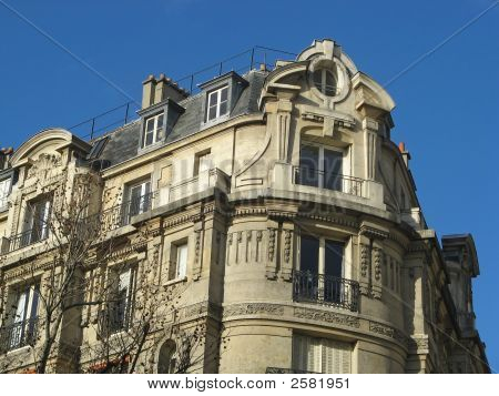 Ancient Building On The Grand Parisian Boulevards