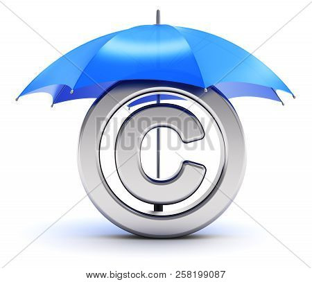 Creative Abstract Intellectual Property Protection, Patent And Trademark Law Technology Concept: 3d