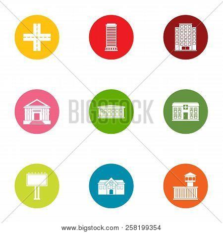 New Europe Icons Set. Flat Set Of 9 New Europe Vector Icons For Web Isolated On White Background