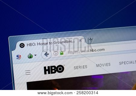 Ryazan, Russia - September 09, 2018: Homepage Of Hbo Website On The Display Of Pc, Url - Hbo.com.