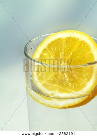Slice Of Lemon In A Glass