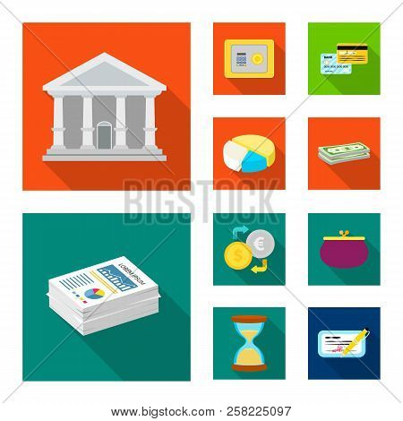 Isolated Object Of Bank And Money Logo. Collection Of Bank And Bill Stock Vector Illustration.