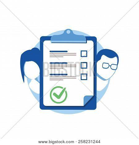 Prenuptial Agreement Document, Couple Divorce, Check List Clipboard, Sociology Concept, Questionnair