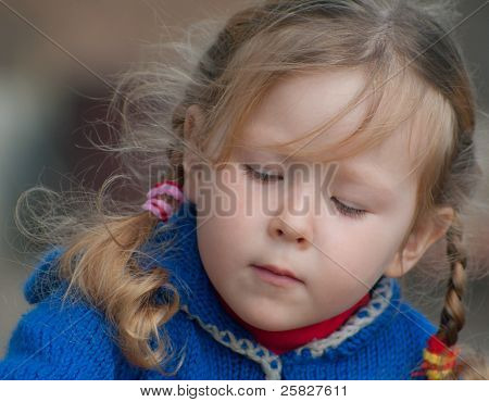 Little Girl With Curly Hair