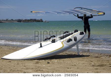 Windsurfer, Sail And Board