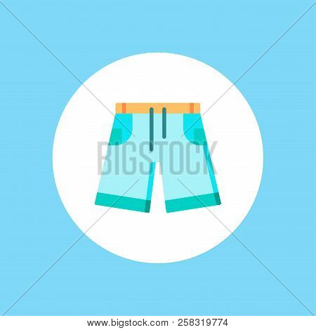 Denim Shorts Outline Icon. Linear Style Sign For Mobile Concept And Web Design. Jeans Shorts Simple