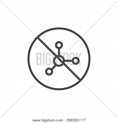 Nitrate Free Food Label Outline Icon. Linear Style Sign For Mobile Concept And Web Design. Line Vect